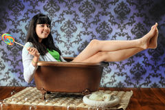 Teen Bathtub Diva Stock Image