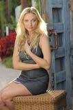 Teen Beauty Rustic Door Royalty Free Stock Images