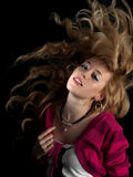Teen Beauty Shaking Hair Stock Images