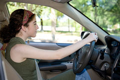 Teen Behind the Wheel Royalty Free Stock Photo