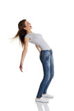 Teen bending under the wind. Stock Photography