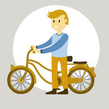 Teen with bicycle Royalty Free Stock Photography