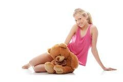 teen björnflickanalle Royaltyfri Foto
