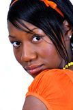 Teen Black Female. Teen high school girl posed for a shoot for a pageant Stock Images