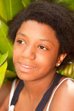 Teen black girl Stock Photography