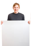 Teen with blank Stock Photography