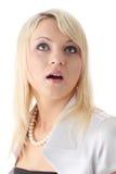 Teen blond elegant woman Stock Images