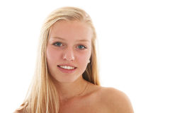 teen blond flicka Royaltyfri Bild
