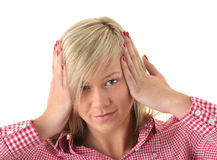 Teen blond student portrait Royalty Free Stock Photos