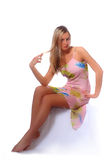 Teen blond in sun dress Royalty Free Stock Images