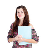 Teen with book Royalty Free Stock Photos