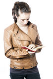 Teen with book. A teen with a book Royalty Free Stock Images