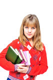 Teen with books Royalty Free Stock Photos