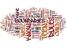 Teen Boundaries Text Background Word Cloud Concept Royalty Free Stock Images