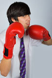 Teen in boxing gloves Royalty Free Stock Image