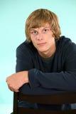 Teen boy. Headshot of handsome teen boy Stock Image