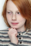 Teen boy. Portrait of handsome redhead thoughtful teen boy Royalty Free Stock Images