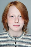 Teen boy. Portrait of handsome redhead freckled teen boy Royalty Free Stock Photography
