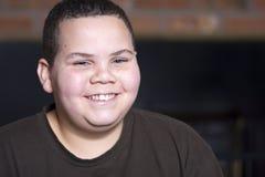 Teen boy. Teenage boy portrait smiling at camera Royalty Free Stock Photos