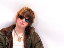 Teen Boy with Attitude stock images