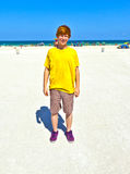 Teen boy at the beach in South Miami Royalty Free Stock Image