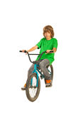 Teen boy with bike Stock Images