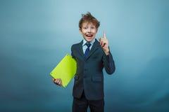 Teen boy businessman  Royalty Free Stock Photos