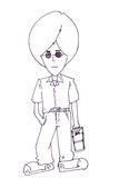 Teen boy cartoon Royalty Free Stock Photo
