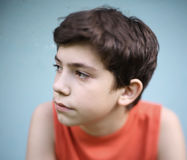 Teen boy close up portrait Royalty Free Stock Photography