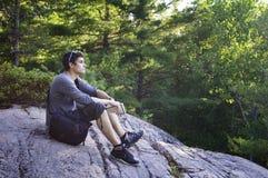 Teen boy contemplating Stock Images
