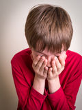 Teen Boy Crying Stock Photography