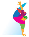 Teen boy dancing professionally bottom breakdance Stock Photography