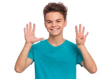 Free Teen Boy Emotions And Signs Royalty Free Stock Images - 177002569