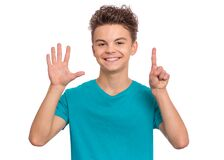 Free Teen Boy Emotions And Signs Stock Photo - 177002590