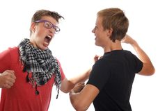 Teen boy fight Royalty Free Stock Photography