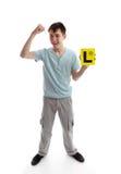 Teen boy fist of success Royalty Free Stock Photo