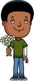 Teen Boy Flowers Stock Photo