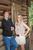Teen boy and girl Royalty Free Stock Photos