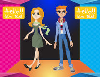Teen boy and girl Royalty Free Stock Image