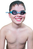 Teen boy in goggles Royalty Free Stock Photo