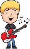 Teen Boy Guitar Stock Photo