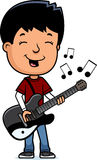 Teen Boy Guitar Royalty Free Stock Images