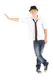 Teen boy isolated Royalty Free Stock Image