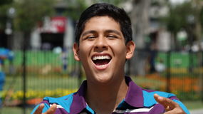 Teen Boy Laughing Stock Photography