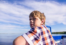 Teen boy looks away Royalty Free Stock Images