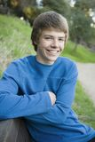 Teen Boy In Park Stock Photo