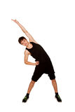 Teen boy playing sports, fitness workout. Royalty Free Stock Images
