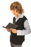 Teen boy reading tablet pc Royalty Free Stock Images