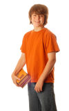 Teen boy with school books Stock Image
