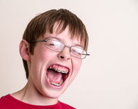 Teen Boy Screaming Yelling Royalty Free Stock Photography